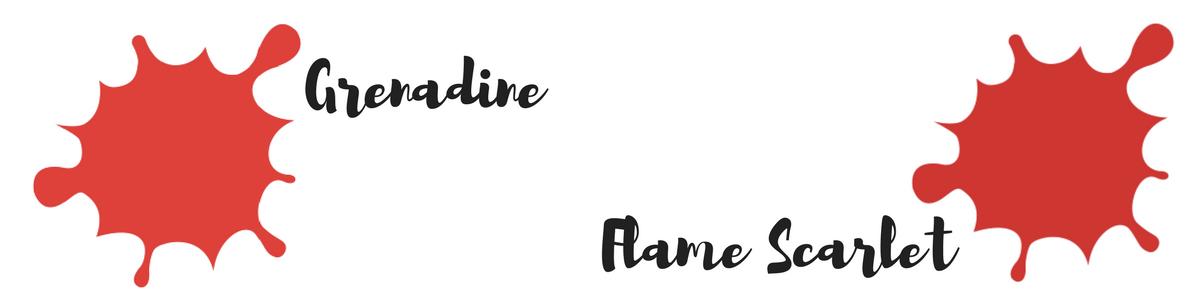 Pantone Trendfarben des Fashion Color Report für den Herbst 2017 : Grenadine und Flamme Scarlet